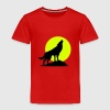 Wolf und Vollmond - Kinder Premium T-Shirt