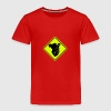 Koala face road sign - Kids' Premium T-Shirt