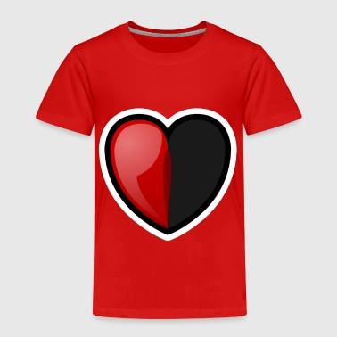 Halveringstid RPG Heart: Half Full - Premium-T-shirt barn