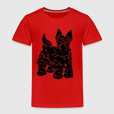 Shaggy Scotty Dog Design - Kids' Premium T-Shirt