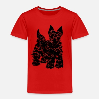 Shaggy Shaggy Scotty Dog Design - Kids' Premium T-Shirt