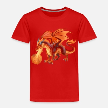 Feuerdrache fire dragon - Kinder Premium T-Shirt