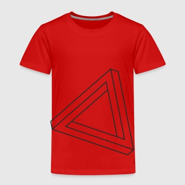 Impossible Triangle Optical Impossible triangle optical illusion - Kids' Premium T-Shirt