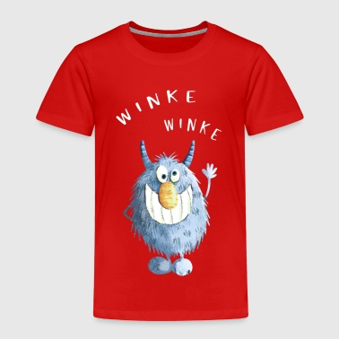 Blue shaggy wakes monster - Kids' Premium T-Shirt