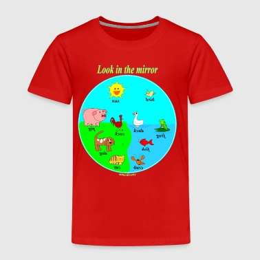 Look in the mirror - Kinderen Premium T-shirt