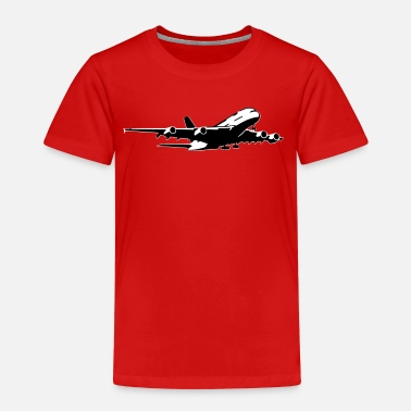 Airbus airplane Flugzeug A 380 (2 color) - Kinder Premium T-Shirt