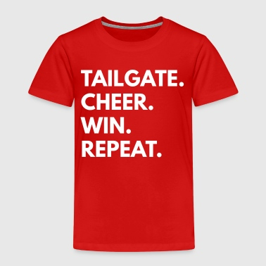 Tailgate Cheer Win Repeat - Kids' Premium T-Shirt