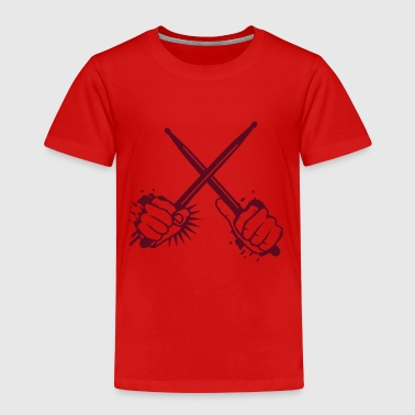 Drumstick two crossed drumsticks - Kids' Premium T-Shirt