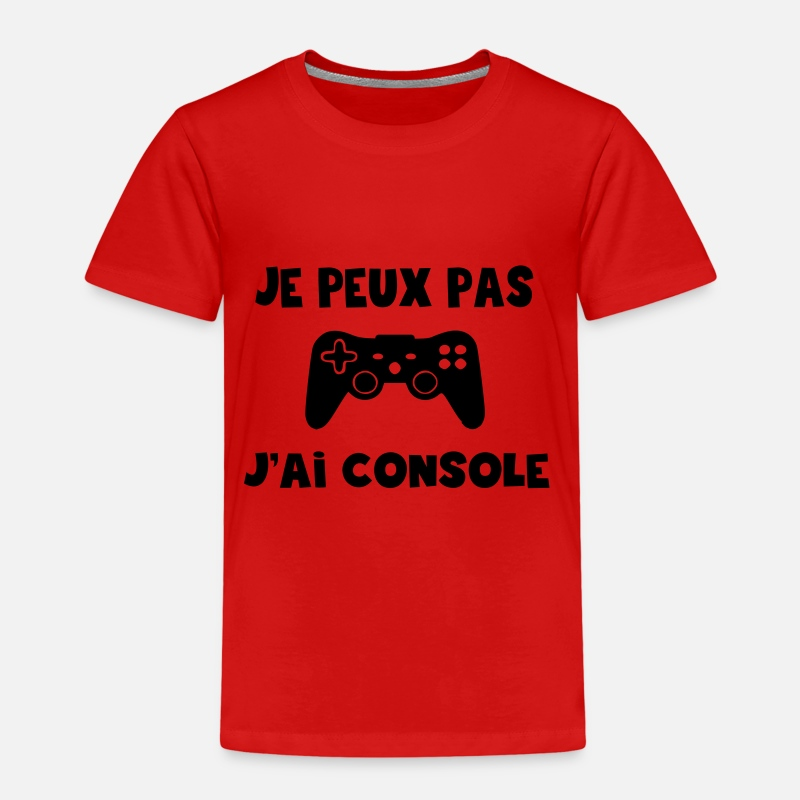 Console T-shirts - je peux pas j'ai console,citations,message,humour - T-shirt premium Enfant rouge