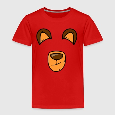 Bärenschnautze with ears - Kids' Premium T-Shirt