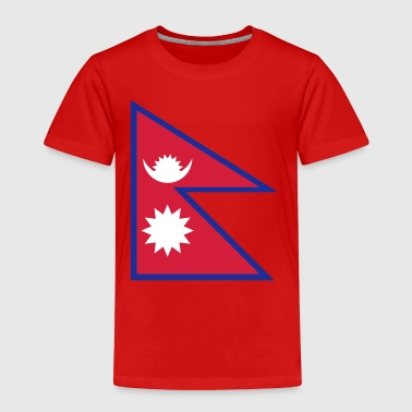 Nationalflagge von Nepal - Kinder Premium T-Shirt
