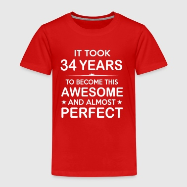 It took 34 years to become this awesome - Kids' Premium T-Shirt