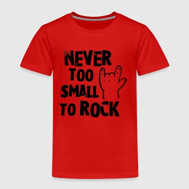 never too small to rock - geburt - baby -kleinkind - Premium T-skjorte for barn