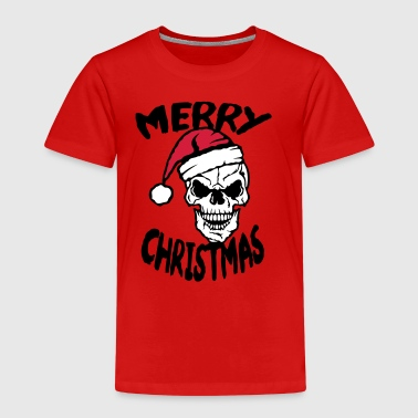 Merry Christmas skull cap bonnet - Kids' Premium T-Shirt