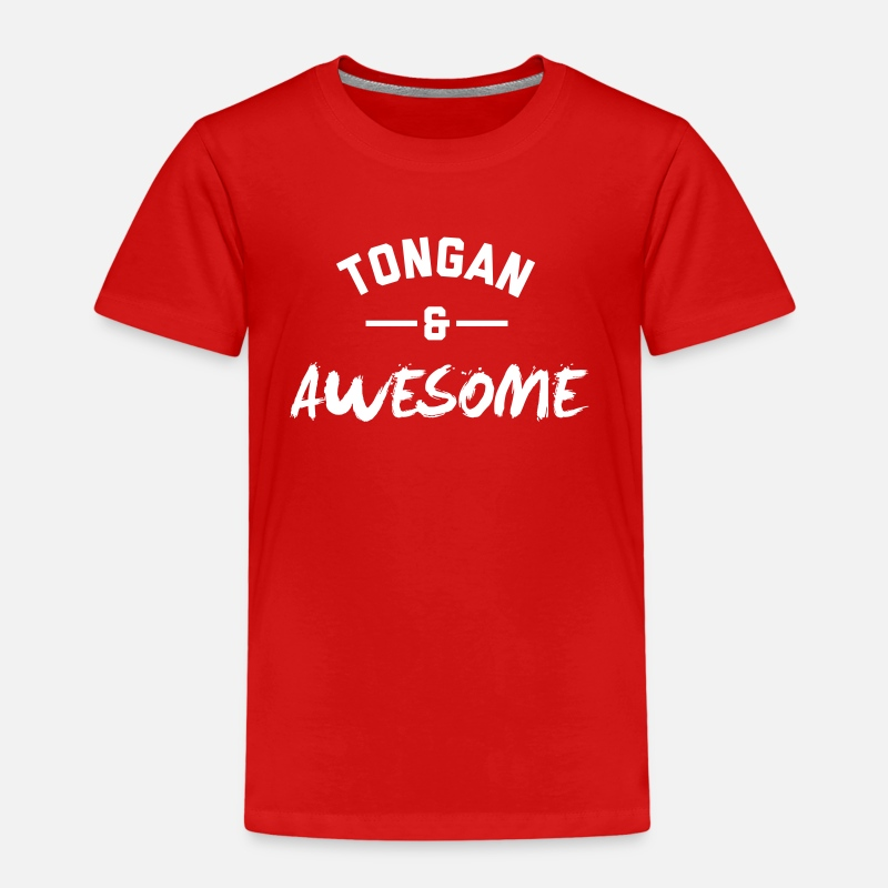 Awesome T-Shirts - Tongan and Awesome - Kids' Premium T-Shirt red