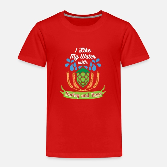 Alcohol T-shirts - BIER | MALT HOPPING ALCOHOL GIFT FEESTDRANK - Kinderen premium T-shirt rood