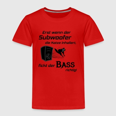 Car Hifi - Subwoofer Katze, Hifi-Shirt Bass Lover - Kinder Premium T-Shirt