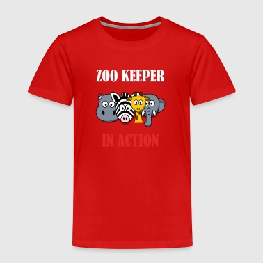 Zoo Keeper in Action (Animal Keeper) - Kids' Premium T-Shirt