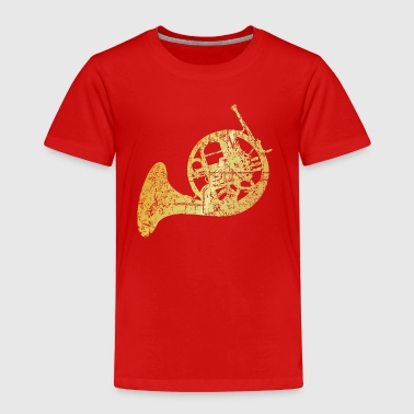 French Horn (Ancient Gold) - Kids' Premium T-Shirt