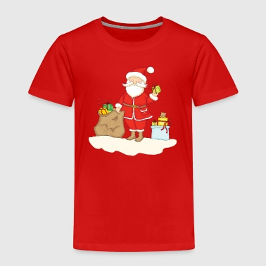 Santa Claus with bag of Christmas Gifts. - T-shirt Premium Enfant