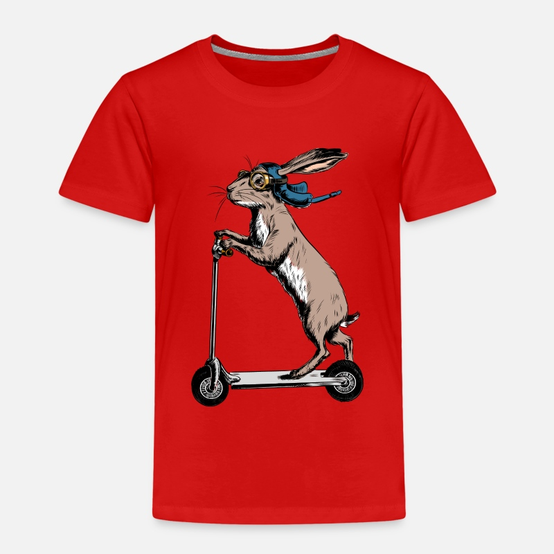 Bestseller Q4 2018 T-Shirts - Scooter Hare - Kinder Premium T-Shirt Rot