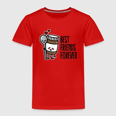 Best friends forever chocolate spread / spoon BFF - Camiseta premium niño