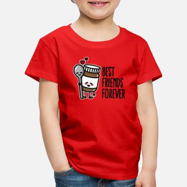 Best friends forever chocolate spread / spoon BFF - T-shirt premium Enfant