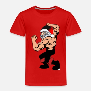 Fitness Body building Santa Claus, funny christmas - Kids' Premium T-Shirt
