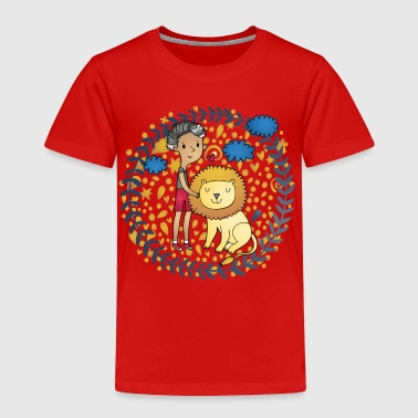 Lion and kids beautiful Lion Kids - Kids' Premium T-Shirt
