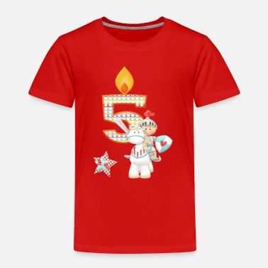 Boy Birthday Number 5 Prince Knight Horse Boy - Kids' Premium T-Shirt