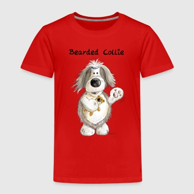 Bearded Collie With Teddy - Kids' Premium T-Shirt