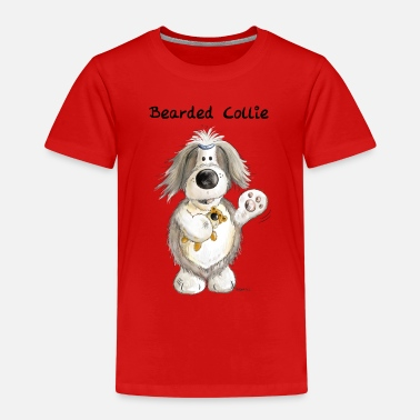 Bearded Collie Bearded Collie With Teddy - Kids' Premium T-Shirt