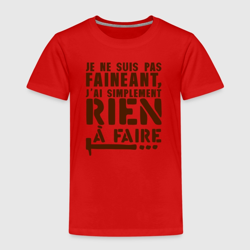 citation faineant rien faire marteau - T-shirt Premium Enfant