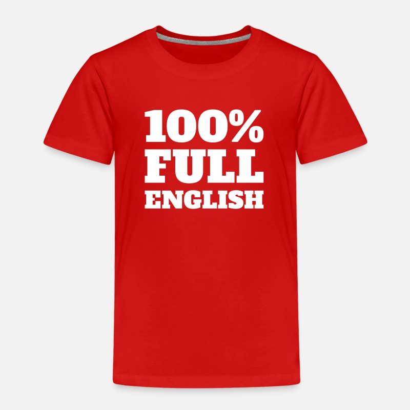England T-Shirts - 100% Full English - Kids' Premium T-Shirt red