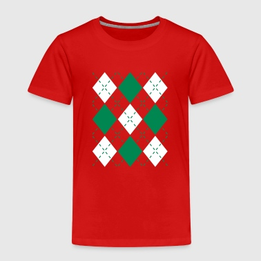 Ugly Argyle lozenges pattern Christmas sweater - Børne premium T-shirt