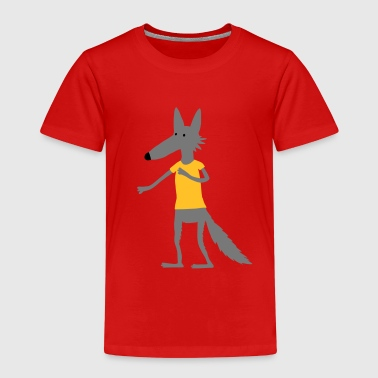 Wolf (Flexdruck) - Kinder Premium T-Shirt