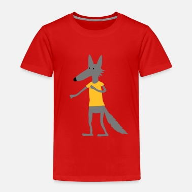 Pflegehinweis Wolf (Flexdruck) - Kinder Premium T-Shirt