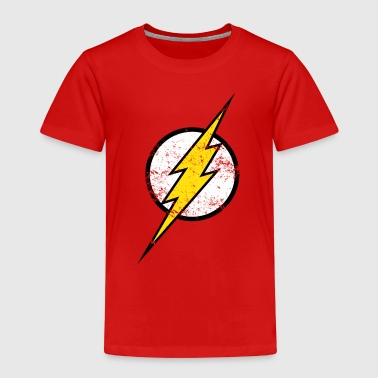 The Flash Logo vintage - Kinder Premium T-Shirt