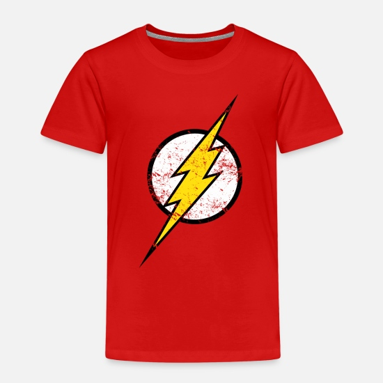 Coole T-Shirts - The Flash Logo vintage - Kinder Premium T-Shirt Rot