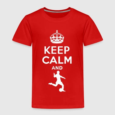 Keep calm - playing football - Kids' Premium T-Shirt