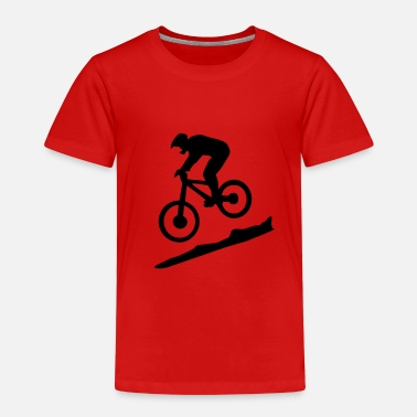 Biking downhill biking - mountain biking - Lasten premium t-paita