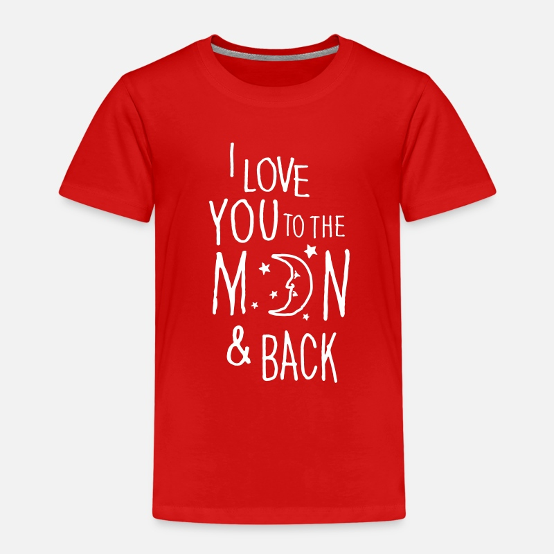 Love T-Shirts - I LOVE YOU TO THE MOON & BACK - Kinderen premium T-shirt rood