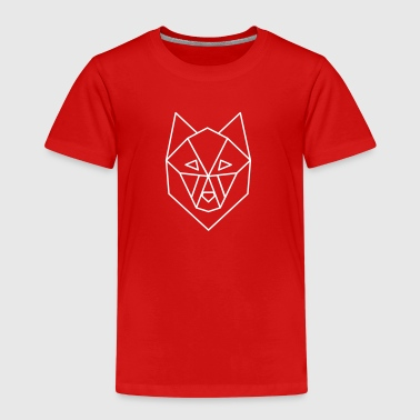 wolf geometric dark backgrounds - T-shirt Premium Enfant