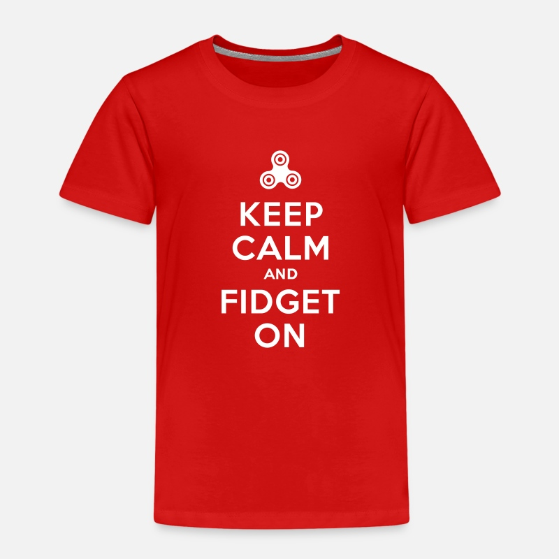 Adhd T-Shirts - Keep calm and fidget on - Fidget Spinner - Kids' Premium T-Shirt red
