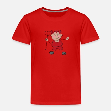 Devil Cute Naughty, cute little devil - Kids' Premium T-Shirt
