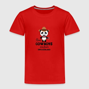 Real Cowboys are from Switzerland Gift - Kids' Premium T-Shirt