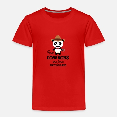 Eiger Real Cowboys are from Switzerland Gift - Kids' Premium T-Shirt