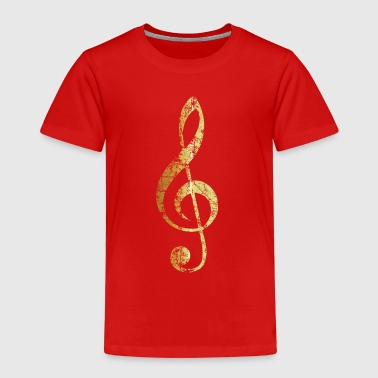 G-Clef - Treble Clef (Ancient Gold) - Kids' Premium T-Shirt
