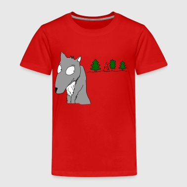 waiting for Little Red Riding Hood - Kids' Premium T-Shirt