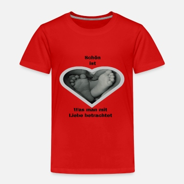 beautiful is what you look at with love - Kids' Premium T-Shirt
